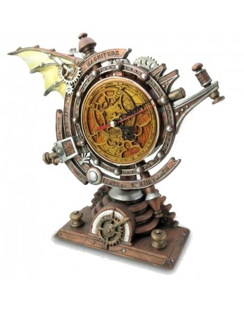 The Stormgrave Chronometer Steampunk Pedestal Clock Mythic Decor  Dragon Statues, Angels & Demons, Myths & Legends |Statues & Home Decor