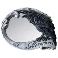 Nevermore Skull Raven Compact Makeup Mirror