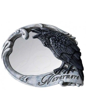 Nevermore Skull Raven Compact Makeup Mirror Mythic Decor  Dragon Statues, Angels, Myths & Legend Statues & Home Decor