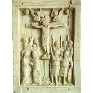 Byzantine Crucifixion Tablet Stone Relief Plaque Mythic Decor  Dragon Statues, Angels & Demons, Myths & Legends |Statues & Home Decor