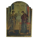 Annunciation Byzantine Style Devotional Christian Icon at Mythic Decor,  Dragon Statues, Angels, Myths & Legend Statues & Home Decor