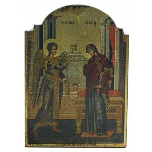 Annunciation Byzantine Style Devotional Christian Icon Mythic Decor  Dragon Statues, Angels & Demons, Myths & Legends |Statues & Home Decor