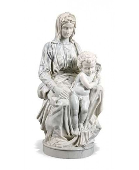 Madonna of Bruges by Michelangelo Museum Replica Statue at Mythic Decor,  Dragon Statues, Angels, Myths & Legend Statues & Home Decor