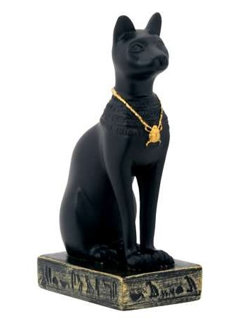 Bastet Black Cat Mini Statue Mythic Decor  Dragon Statues, Angels, Myths & Legend Statues & Home Decor