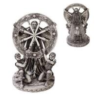 Arianrhod Wheel of the Year Bone Finish Resin Statue