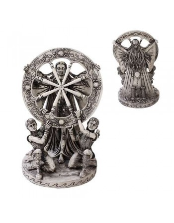 Arianrhod Wheel of the Year Bone Finish Resin Statue