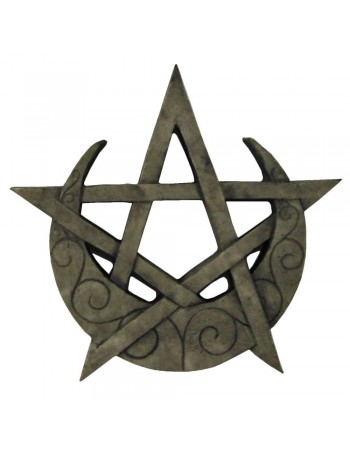 Crescent Moon Pentacle Small Wall Plaque Mythic Decor  Dragon Statues, Angels, Myths & Legend Statues & Home Decor