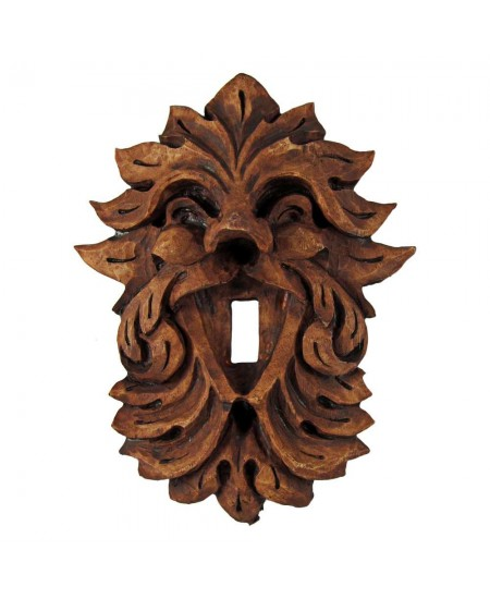 Laughing Leafman Green Man Switchplate at Mythic Decor,  Dragon Statues, Angels & Demons, Myths & Legends |Statues & Home Decor