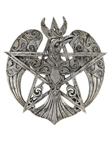 Crescent Raven Large Pentacle Plaque Mythic Decor  Dragon Statues, Angels & Demons, Myths & Legends |Statues & Home Decor