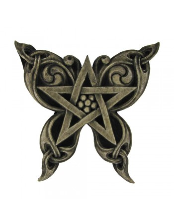 Butterfly Pentacle Wall Plaque Mythic Decor  Dragon Statues, Angels, Myths & Legend Statues & Home Decor