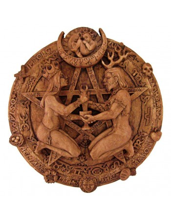 Great Rite Pentacle Wicca Plaque by Paul Borda Mythic Decor  Dragon Statues, Angels, Myths & Legend Statues & Home Decor