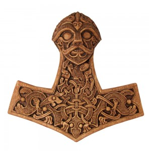 Hammer of Thor Wood Finish Plaque Mythic Decor  Dragon Statues, Angels & Demons, Myths & Legends |Statues & Home Decor