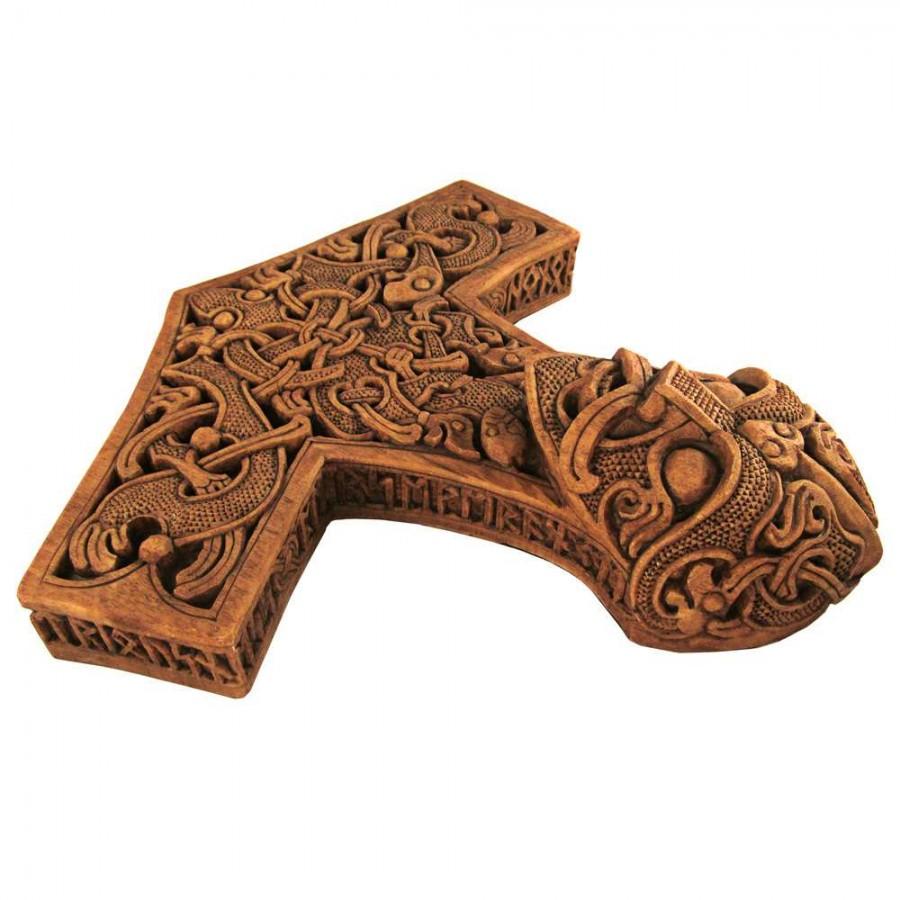 hammer of thor wood finish plaque paul borda mjolnir plaque