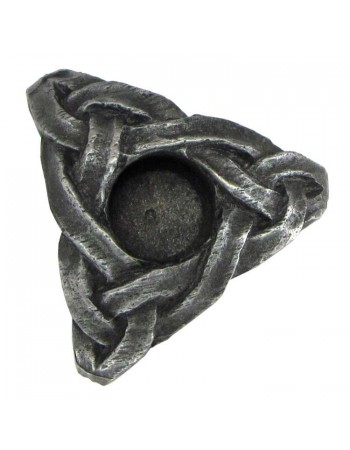 Triskelion Mini Pewter Candle Holder Mythic Decor  Dragon Statues, Angels, Myths & Legend Statues & Home Decor