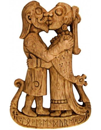 Viking Kiss Wood Finish Plaque Mythic Decor  Dragon Statues, Angels, Myths & Legend Statues & Home Decor