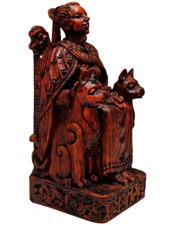 Freya, Norse Goddess of Love Seated Statue