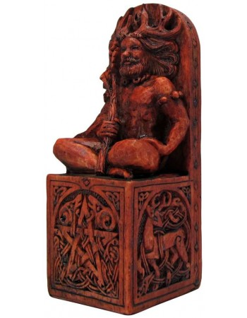 Forest God Seated Statue Mythic Decor  Dragon Statues, Angels, Myths & Legend Statues & Home Decor