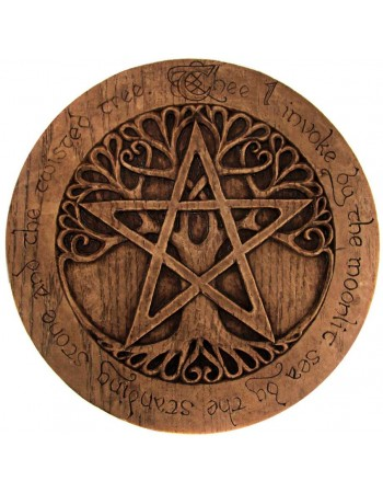 Tree Pentacle Large Plaque Mythic Decor  Dragon Statues, Angels & Demons, Myths & Legends |Statues & Home Decor