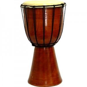 Djembe Drum Plain Red Mahogany Finish Drum Mythic Decor  Dragon Statues, Angels & Demons, Myths & Legends |Statues & Home Decor