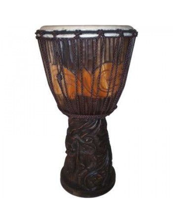 Dragon Carved Adjustable Djembe Drum Mythic Decor  Dragon Statues, Angels & Demons, Myths & Legends |Statues & Home Decor