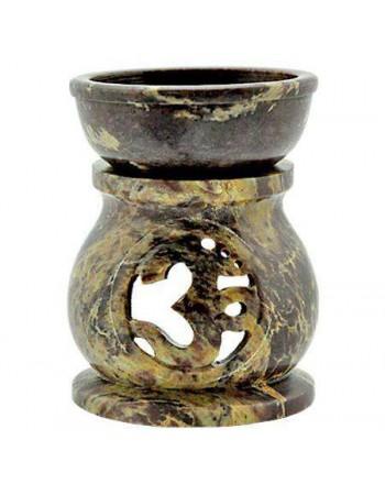 Om Carved Soapstone Oil Burner Mythic Decor  Dragon Statues, Angels, Myths & Legend Statues & Home Decor