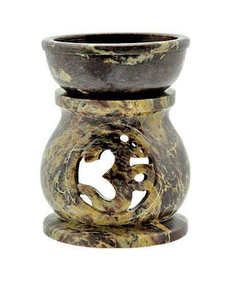 Om Carved Soapstone Oil Burner at Mythic Decor,  Dragon Statues, Angels & Demons, Myths & Legends |Statues & Home Decor