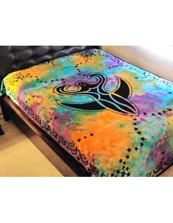 Nile Moon Goddess Tie Dye Bedspread Mythic Decor  Dragon Statues, Angels & Demons, Myths & Legends |Statues & Home Decor