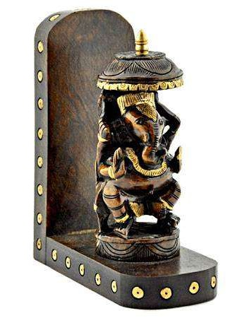 Lord Ganesh Carved Wood Wall Altar Mythic Decor  Dragon Statues, Angels, Myths & Legend Statues & Home Decor
