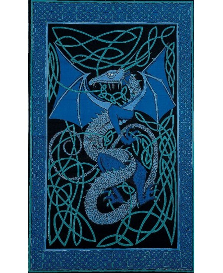 Celtic English Dragon Tapestry - Twin Size Blue at Mythic Decor,  Dragon Statues, Angels, Myths & Legend Statues & Home Decor