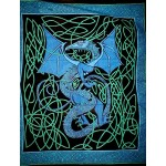 Celtic English Dragon Tapestry - Full Size Blue at Mythic Decor,  Dragon Statues, Angels & Demons, Myths & Legends |Statues & Home Decor
