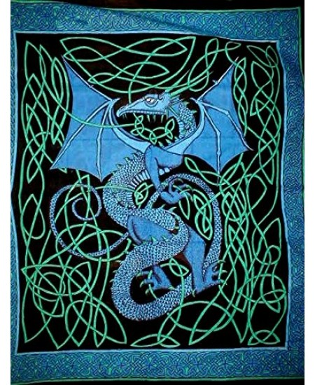 Celtic English Dragon Tapestry - Full Size Blue at Mythic Decor,  Dragon Statues, Angels, Myths & Legend Statues & Home Decor