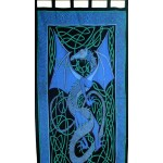 Celtic English Dragon Curtain - Blue at Mythic Decor,  Dragon Statues, Angels, Myths & Legend Statues & Home Decor