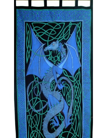 Celtic English Dragon Curtain - Blue Mythic Decor  Dragon Statues, Angels, Myths & Legend Statues & Home Decor