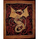Celtic English Dragon Tapestry - Full Size Red at Mythic Decor,  Dragon Statues, Angels, Myths & Legend Statues & Home Decor