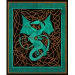 Celtic English Dragon Tapestry - Full Size Green at Mythic Decor,  Dragon Statues, Angels & Demons, Myths & Legends |Statues & Home Decor