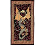 Celtic English Dragon Tapestry - Twin Size Red at Mythic Decor,  Dragon Statues, Angels, Myths & Legend Statues & Home Decor