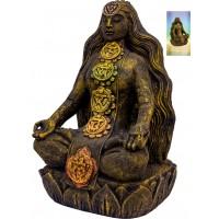 Chakra Goddess Statue in Volcanic Stone