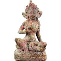 Rainbow Tara Chakra Statue in Volcanic Stone