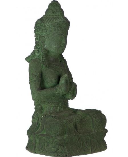 Green Tara Garden Statue in Volcanic Stone