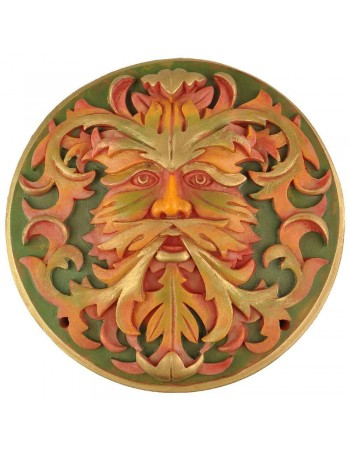 Green Man Autumn Plaque Mythic Decor  Dragon Statues, Angels, Myths & Legend Statues & Home Decor