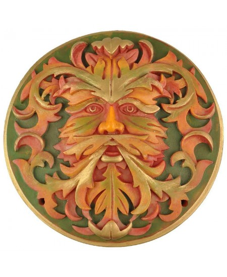 Green Man Autumn Plaque at Mythic Decor,  Dragon Statues, Angels & Demons, Myths & Legends |Statues & Home Decor