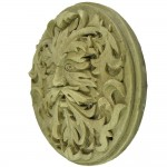 Green Man Winter White Plaque at Mythic Decor,  Dragon Statues, Angels & Demons, Myths & Legends |Statues & Home Decor