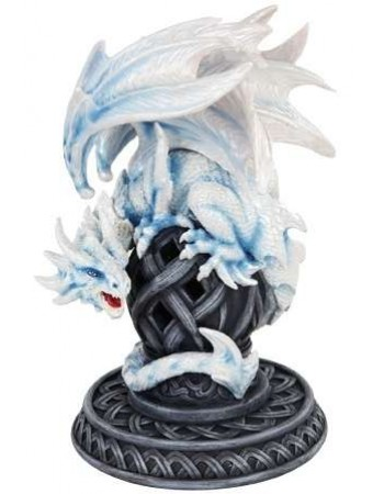 Frost White Dragon Statue Mythic Decor  Dragon Statues, Angels & Demons, Myths & Legends |Statues & Home Decor
