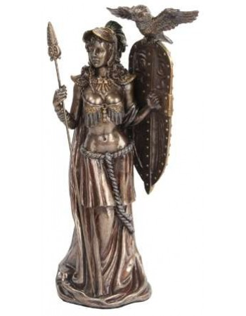 Athena Standing with Shield Greek Bronze Statue