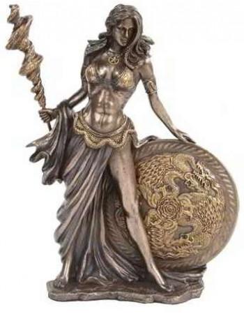Frigga Norse Goddess Bronze Statue