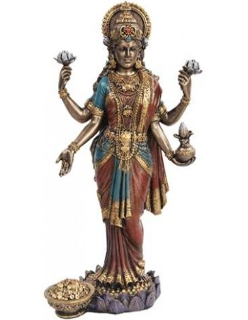 Lakshmi, HIndu Goddess of Wealth Statue Mythic Decor  Dragon Statues, Angels & Demons, Myths & Legends |Statues & Home Decor