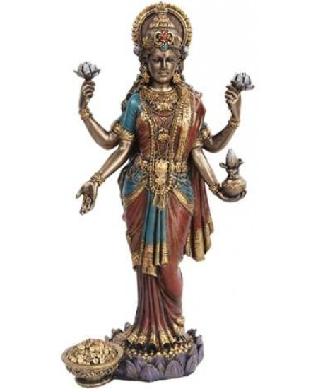 Lakshmi, HIndu Goddess of Wealth Statue at Mythic Decor,  Dragon Statues, Angels, Myths & Legend Statues & Home Decor