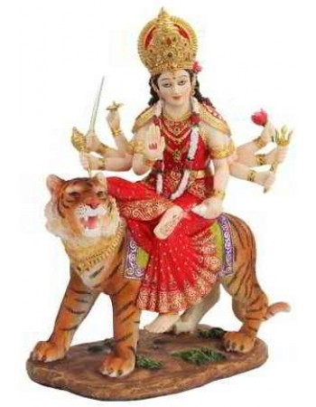 Durga, Hindu Goddess of Justice Statue Mythic Decor  Dragon Statues, Angels & Demons, Myths & Legends |Statues & Home Decor