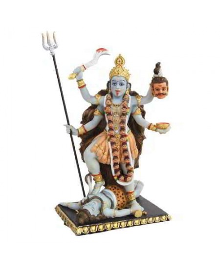 Kali Hindu Goddess of Destruction Statue at Mythic Decor,  Dragon Statues, Angels, Myths & Legend Statues & Home Decor