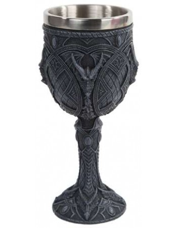Horned Dragon Gothic Wine Goblet Mythic Decor  Dragon Statues, Angels, Myths & Legend Statues & Home Decor